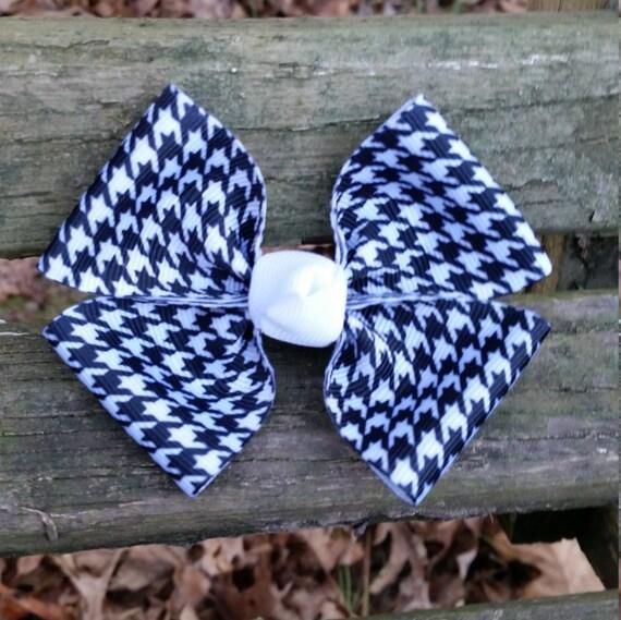 Schwarz/weiß Muster Haarschleife 35 Zoll | Etsy
