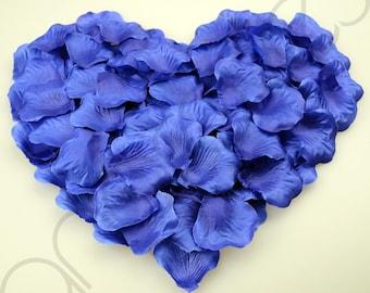 1000 Silk Rose Petal Flower Confetti Engagement Celebration Wedding Decoration (Navy Blue)