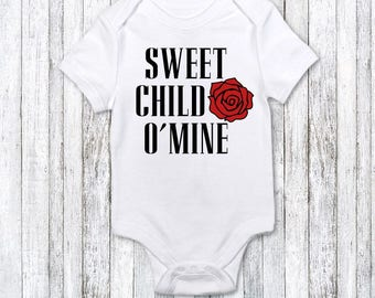 3e561a22ac67 Funny Baby Clothes - Guns N Roses fan - trendy baby gift - funny new baby  gift - cute baby gift - funny baby bodysuit