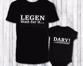 ce9b8537 Father Son shirt set - fathers day gift - first fathers day gift - dad  birthday gift idea - matching shirt set - funny matching shirt