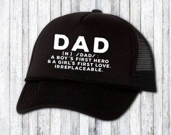 0e6c570c0212c Funny dad hat - birthday gift for dad - fathers day gift - trucker hat - custom  hat - text on hat - funny gift for him - funny hat for men