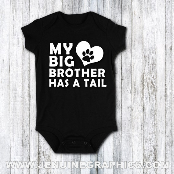 My Siblings have tails Funny Dog Baby Gift Funny Baby Bodysuit