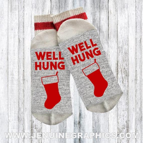 Lustige Socken Neuheit Socken Weihnachten Socken Wörter | Etsy