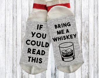 Funny socks - Novelty Socks - Words on socks - gift for dad - funny beer socks - text on socks - custom socks - whiskey lover gift