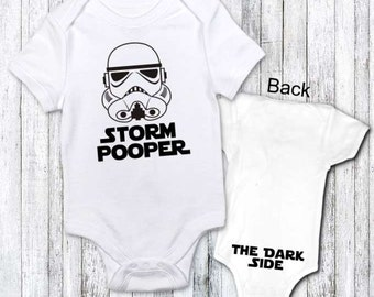 Funny Baby Clothes - Storm Pooper - funny gift idea star wars fan custom order jenuine graphics