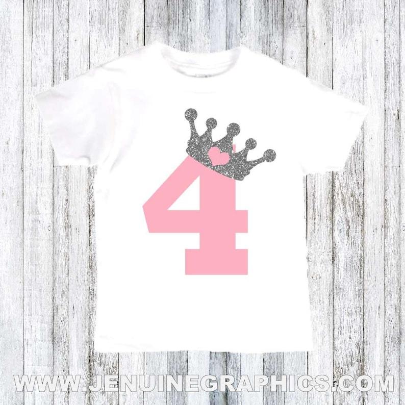 Fourth Birthday Gift 4 Year Old Birthday Crown Toddler Hoodie