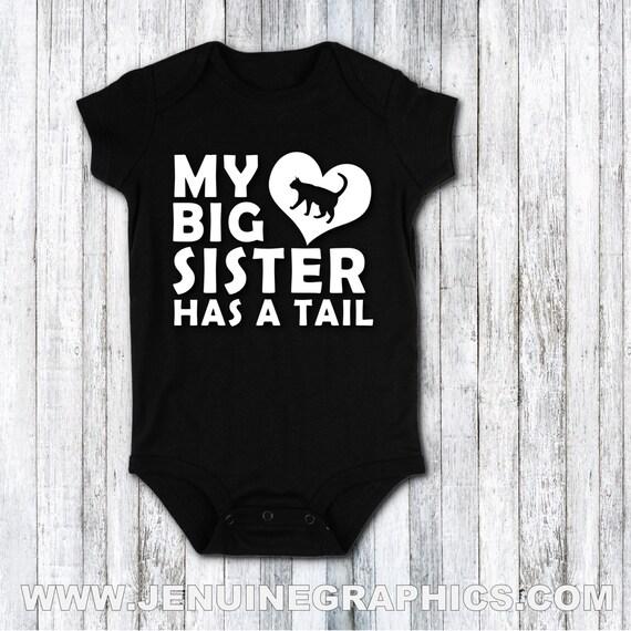 gilet Mes frères et soeurs ont pattes et queues Baby Grow cadeau bébé vêtements bébé