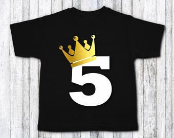 Fifth birthday shirt - fifth birthday party - birthday boy shirt -  5th birthday party - 5th birthday shirt