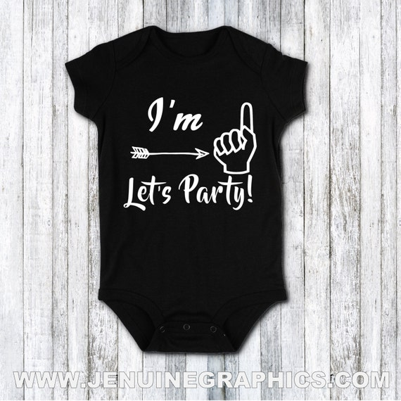 First Birthday Im 1 Lets Party Shirt