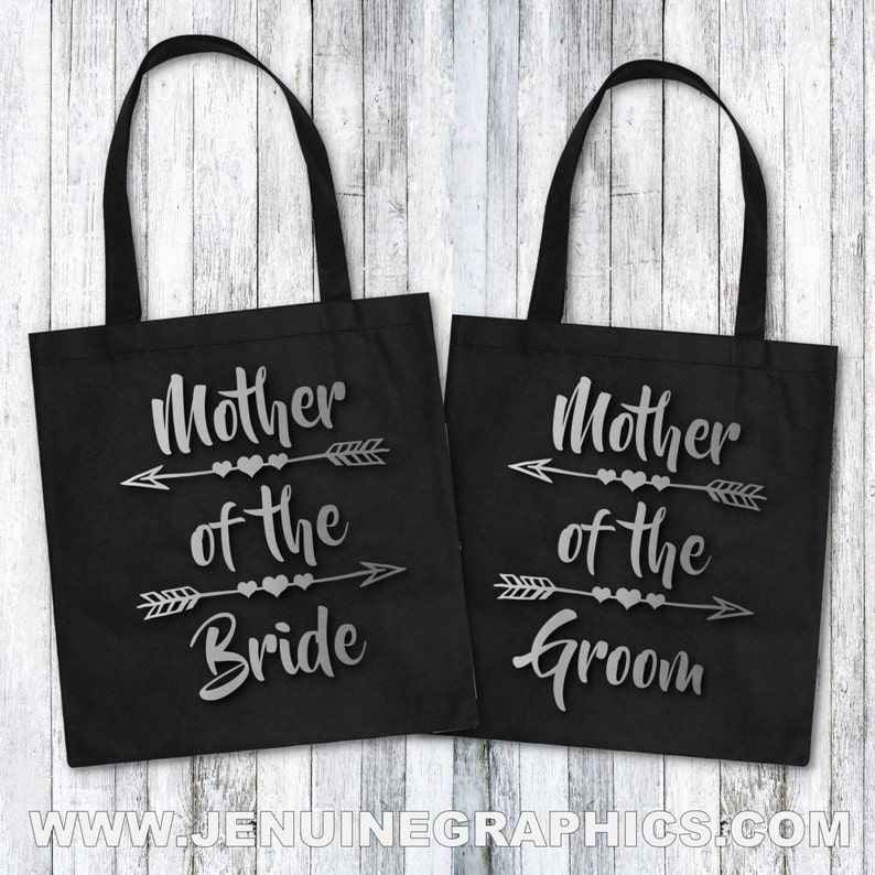 Mother of the bride mother of the bride gift idea bridal party gift Tote bag set mother of the groom gift idea Mother of the groom