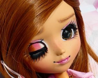 12mm Pullip eyechips- Wide Pupil Dark Chocolate