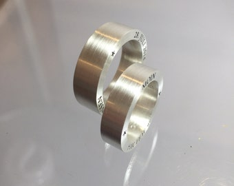 Wedding Rings Personalized in silver