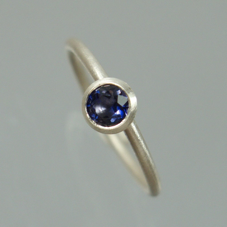 1 stacking ring ring 925 Silver of blue Iolite Wassersafir can be combined