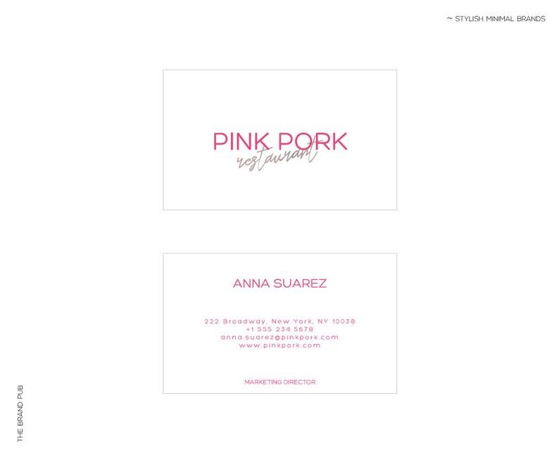 Carte De Visite Restaurant Marque Identite Design