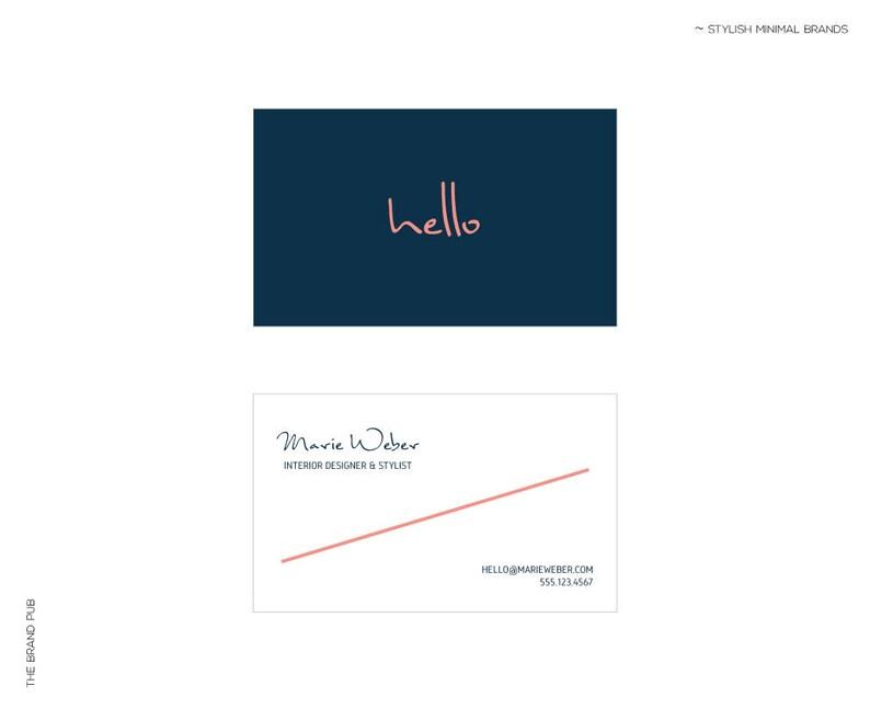 Carte De Visite Minimaliste Logo Calligraphie Manuscrite