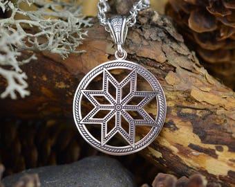 Nordic Perun Star. Nothern star. Handmade Alatir pendant. Scandinavian talisman. Ancient Nordic Amulet. Alatir Necklace