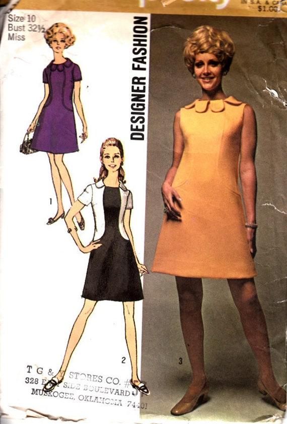 Einfachheit 8485 Größe 10 Büste 325 Jakobsmuschel Kleid   Etsy