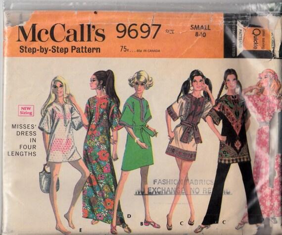 McCalls 9697 Größe klein 8-10-Tunika-Kleid Kaftan Kaftan | Etsy