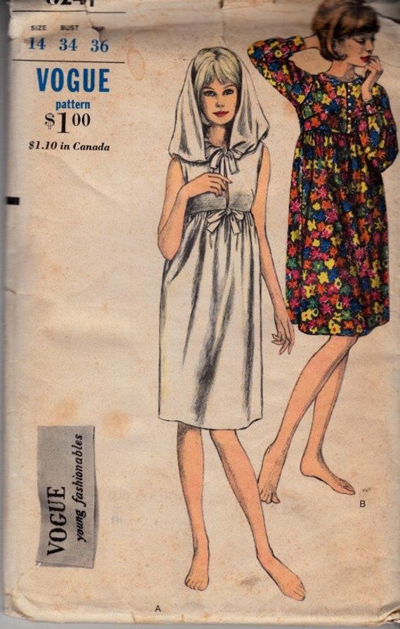 McCalls 6241 Größe 14 Büste 34 Empire-Taille Kleid | Etsy