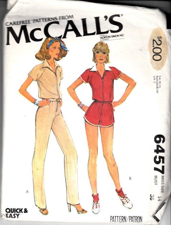 McCalls 6457 Größe 14 Büste 36 Frauen Overall Damen | Etsy