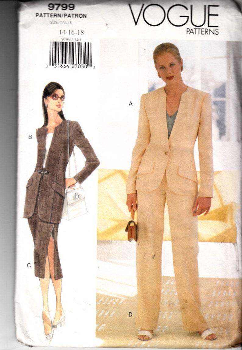 Couture Jambe De Tailleur 9799 14 Coupe Non Large FemmeVeste MidiPatron Vogue 16 FemmesBlazer 18 JupeJupe Pantalon Costume Crayon EIeH2DW9Y
