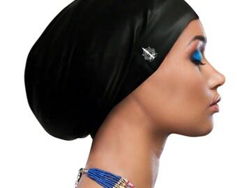 fcdb2403496 Aquastockings Swim Cap and Shower Cap in Black, Burgundy, White - Large and  Extra Large Swim Cap For Dreadlocks, Braids, Natural Hair, Locs
