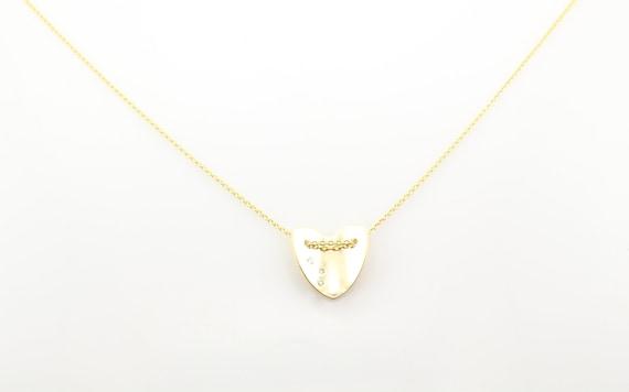 14k Real solide or jaune soufflé Love Coeur Charme Collier Pendentif Cadeau