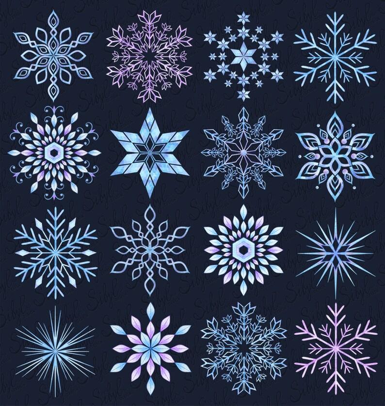 картинки форм снежинок что только