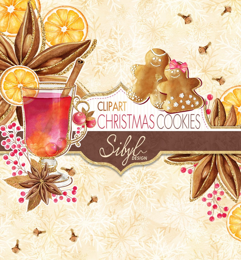 60 Off Sale Christmas Digital Clip Art Noel Cookies Clip Art Xmas Cookies Clip Art Gingerbread Cookies Candy Jars Holiday Clip Art