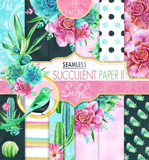 60 de rabais vente num rique papier floral aquarelle papier etsy. Black Bedroom Furniture Sets. Home Design Ideas