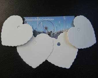 labels 100 white cardboard hearts that measure 6 x 5.5 CM