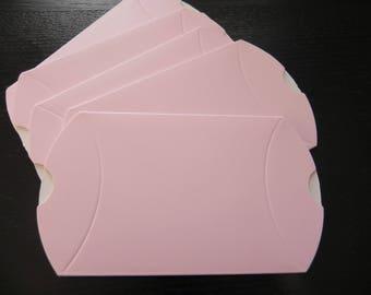 Set of 5 pink sugared almond milk measuring 7 x 9 cm open