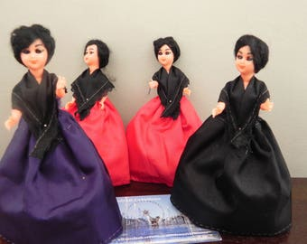 Doll skirt purple celluloid 10 cm to customize