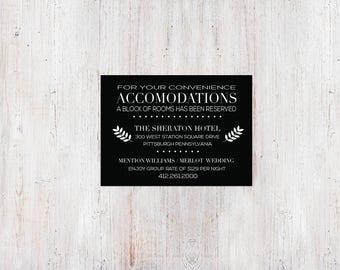 Monochromatic Twigs Accommodation Card