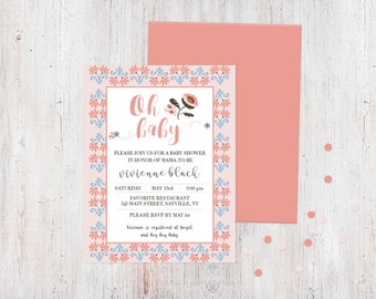 Baby Shower Invitation - May Day Floral {Customized Printable Invitation}