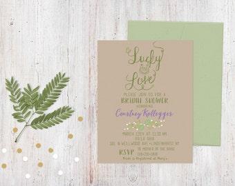 Bridal Shower Invitation - Irish Garden {Customized Printable Invitation}
