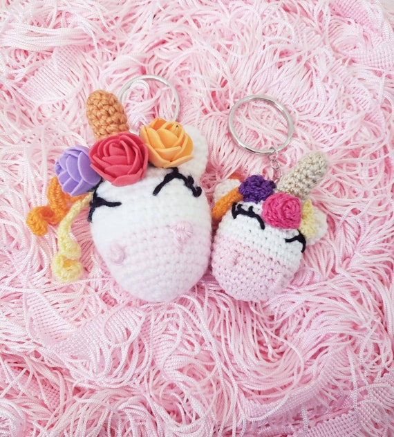 Rainbow unicorn, unicorn keyring, unicorn bag charm, sparkly ... | 632x570
