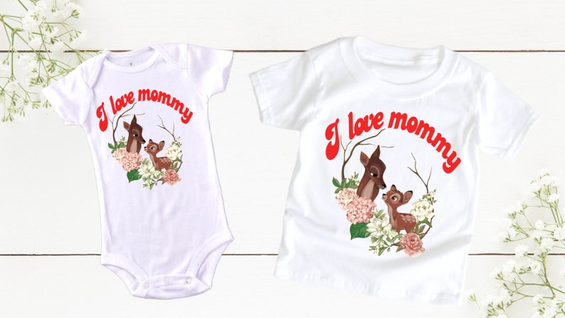 I love Mommy Mother Day T-shirt Baby suit Woman T-shirt