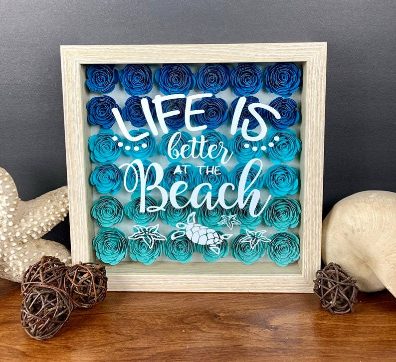 Beach Shadow Box Decorations Home