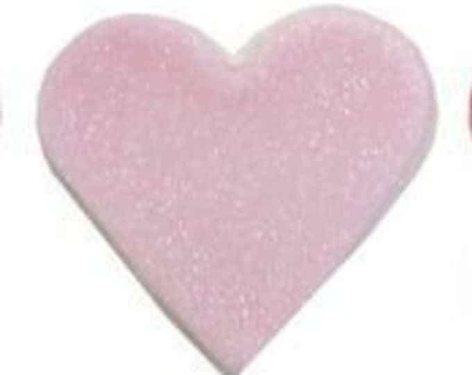 Free UK Shipping Edible Sugarcraft Pink Heart Motifs, Pack of 6 in Pale Pink with a Slight Gold Sheen