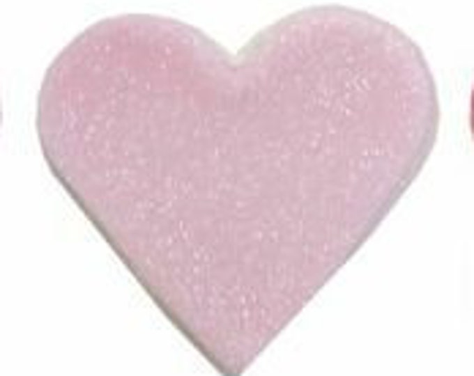 Edible Sugarcraft Pink Heart Cake Decorations, Pack of 6 in Pale Pink with a Subtle Gold Sheen
