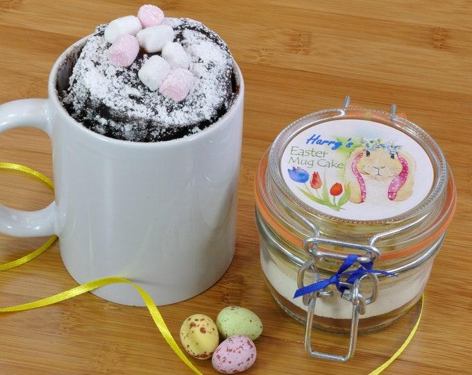 Easter Bunny Chocolate Mug Cake Jar with Personalisation