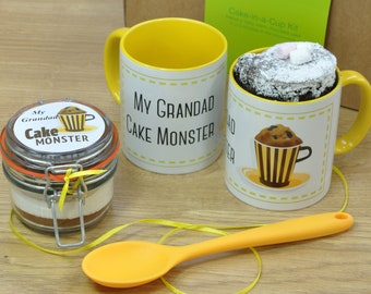 Grandad's Personalised Chocolate Mug Cake Gift for Fathers Day or his Birthday