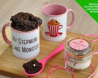 step mum mug gift cake, step mum, stepmother, present for stepmum, baking stepmum, mothers day, stepmums birthday, mug for stepmum, baking k