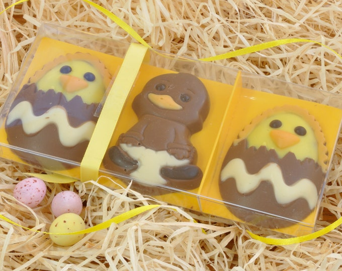 Easter Chocolate Chicks Handmade in Belgian Chocolate to make a cute Easter gift!