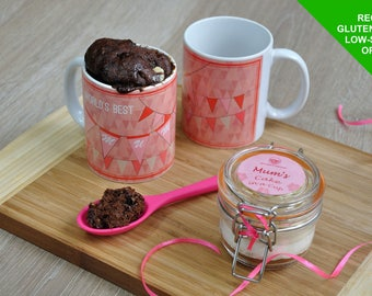 Mothers day gift, gluten free mum, low sugar, mum mug cake, mums birthday, special mum, mug for mum, best mum, personalised mum, baking mum