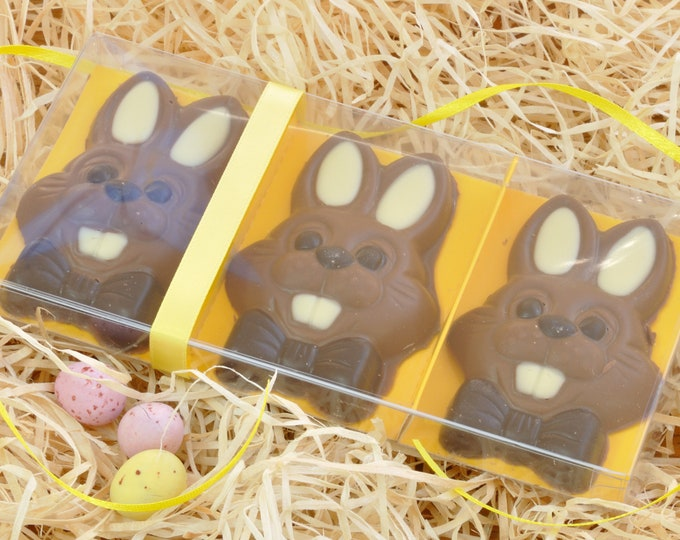 Easter Chocolate Bunnies - Boxed Set of Three