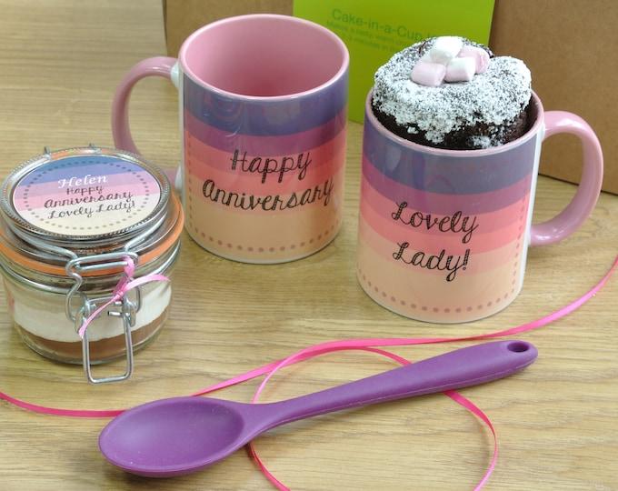 Lady anniversary gift present, girlfriend gift, wife present, lady happy anniversary, sweet gift for wife, wedding aniversary mug