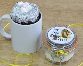Dad/Stepdad/Grandad cake monster mug cake kit!