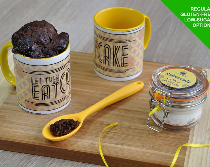 Mug, chocolate cake, cake kit, cake mix, cake lover, cake in a mug, microwave cake, cake in a cup, cake-in-a-cup, gift for him ,gift for her